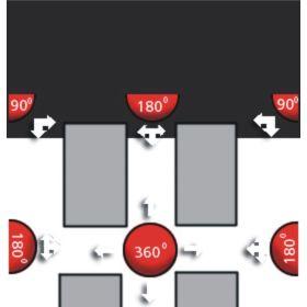 Miroir coupole 180° en différentes tailles
