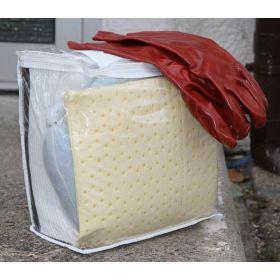 Kit d'urgence Cemsorb Agrar pour huile en sac de transport - hydrophobe