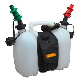 Bidon double pour 6 l carburant et 3 l d'huile de CEMO