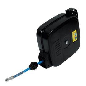 Automatik-Schlauchaufroller für Druckluft, 15 m Schlauch DN 8, Stahlblech lackiert, mit Federrückzug