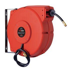 Automatik-Schlauchaufroller geschlossen für Druckluft, 15 m Schlauch DN 15, mit Federrückzug
