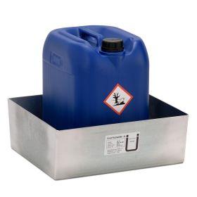 Bac de rétention pour petits conteneurs en acier