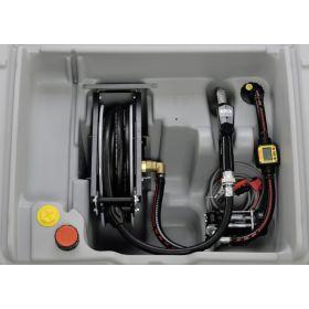 Réservoir de diesel avec enrouleur de tuyau