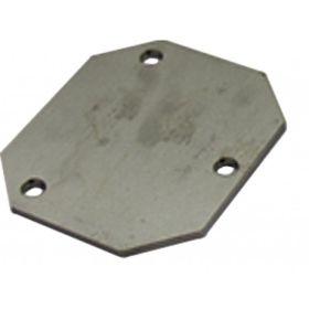 Verschlussplatte für 3-Loch-Flansch zu PE-Fässer