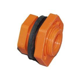 Einschraubgewinde (Kunststoff) mit Aussen- und Innengewinde
