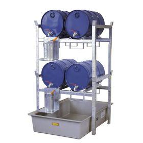 Rayonnage pour fûts et petits conteneurs type 400 - kit complet