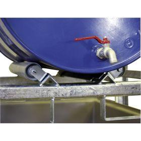 Zubehör zu Fassregal Typ 400 + 800 - drehbare Rollenauflage für 200 l - Fässer