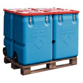 Mobile Kunststoffbox mit Gefahrgut-Zulassung in verschiedenen Ausführungen