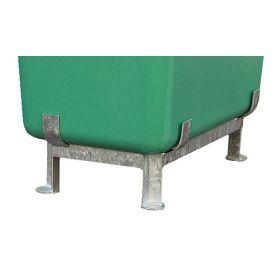 Stahlfussgestell zu Rechteck- und Streugutbehälter GFK