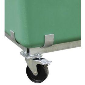 Lenkrollengestell zu Rechteck- und Streugutbehälter aus GFK