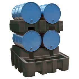 Abfüll- und Lagerstation PE für 2 x 200 l - Fässer, Auffangvolumen 450 l