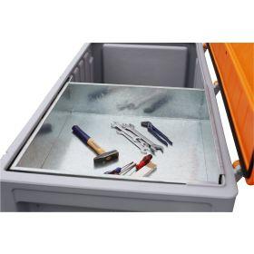 Bac outillage en métal pour CEMbox 750 l