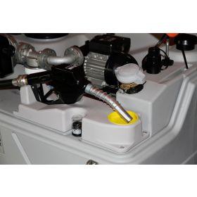 Cuve diesel CUBE de CEMO avec pompe électrique 230 V et Pistolet automatique pour usage intérieur, capacité 1500 - 7500 l