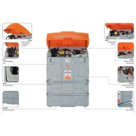Cuve diesel CUBE de CEMO avec pompe électrique 230 V pour usage l'extérieur | capacité 1000 -7500 l