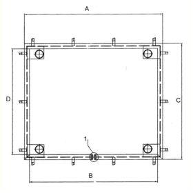 Einbau- und Fundamentrahmen zu Plattformwaage KPZ 2