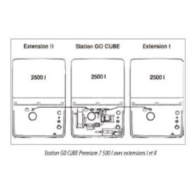 Extension citerne pour cuve diesel CUBE pour usage extérieur   capacité 1500 – 2500 l