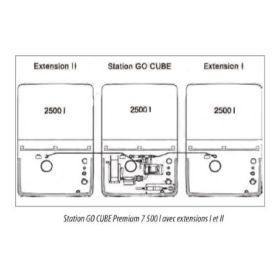 Extension citerne pour cuve diesel CUBE pour usage intérieur   capacité 1500 – 2500 l