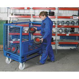 Châssis avec roues en polyamide pour palettes ou caisses