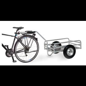 Attelage de bicyclette pour chariot à main