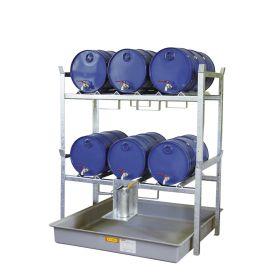 Rayonnage à fûts de type 800 pour fûts et petits conteneurs - kit complet
