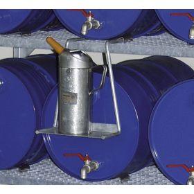 Kannenträger für Fassregale, verzinkt, Stellfläche 230 x 110 mm