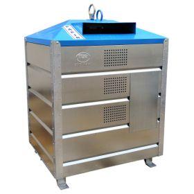 Grosscontainer aus Metall mit 1,5 m3 Inhalt