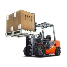 Chariot élévateur HELI à 4 roues, diesel, charge utile 3500 kg