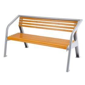 Bank aus Holz und Stahl 1600 x 840 x 900 mm