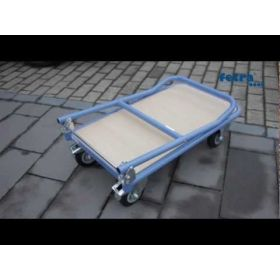 Klappwagen / Magazinwagen mit klappbaren Schiebebügel