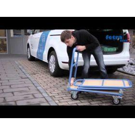 Klappwagen mit 2 klappbaren Bügeln und Tischplattform