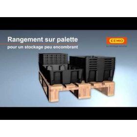 Bacs de rétention en PE de différentes tailles, connectable à la plate-forme de rétention