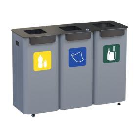 Abfallbehälter 3 Kammern