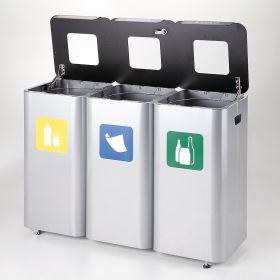 Abfallbehälter 3 Kammern offen