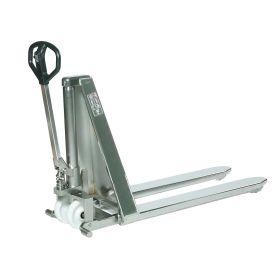 Transpalette à ciseaux INOX, manuelle, longueur de fourches 800 - 1300 mm
