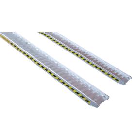Rampes en aluminium 5000 mm, avec ou sans bord, disponibles en différentes largeurs