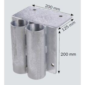Douille de montage pour garde-corps de rampe