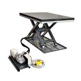 Superflacher Hubtisch L8-C mit Vollplattform - Silver Line - für gleichmässig verteilte Last, Tragfähigkeit 1000 kg