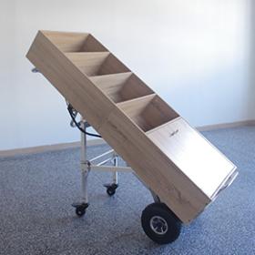 Roues d'appui dépliantes pour monte-escaliers électrique