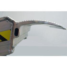 Rampes en aluminium 3500 mm, avec ou sans bord, disponibles en différentes largeurs