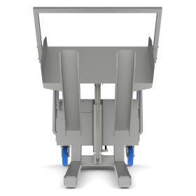 Standardkipper aus Inox für grosse Behälter zum beschleunigten Entleeren