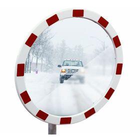 Eisfreier Verkehrsspiegel TM-B mit rot-weisser Umrandung
