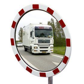 Verkehrsspiegel TM mit rot-weisser Umrandung