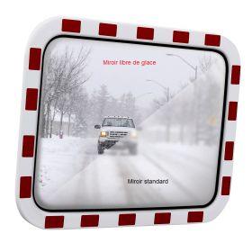 Miroir routier libre de glace, Type TM-B avec bordure rouge-blanc