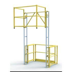 Sicherheits-Schleusengeländer / Palettenschleuse, Typ CC - individuelle Anfertigung