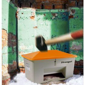 Streugutbehälter GFK mit Vandalismusdeckel in verschiedenen Ausführungen