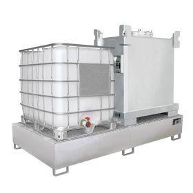 Auffangwanne aus Edelstahl für IBC-Container