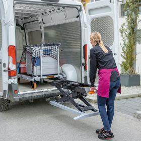 Mobiler Hubtisch aus Edelstahl - Hebewagen Xetto