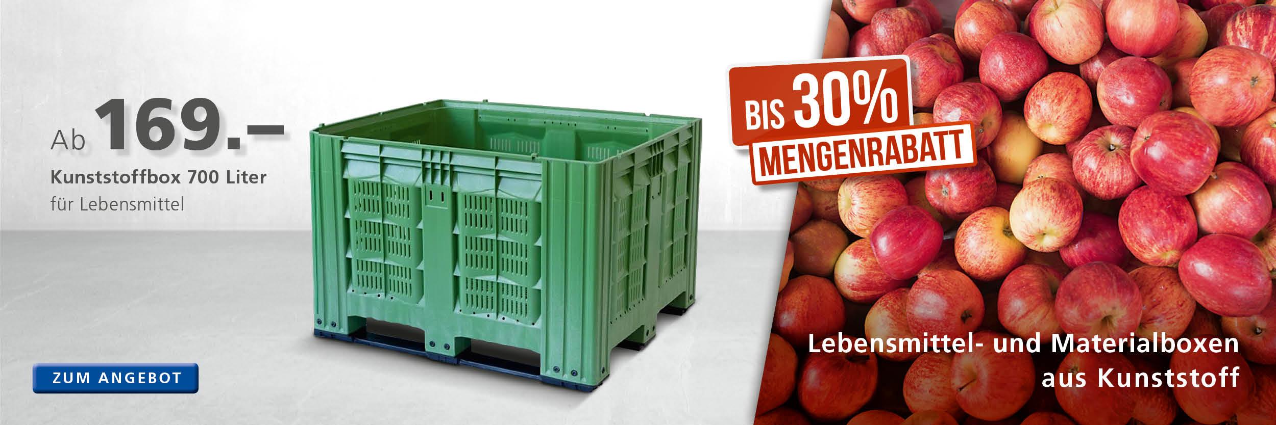 Lebensmittelboxen für Obst und Gemüse