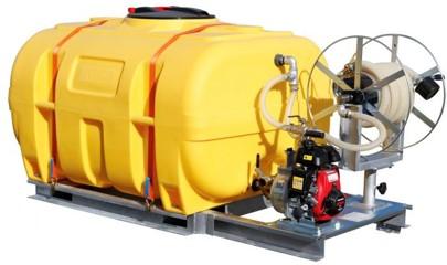 Mobiles Bewässerungssystem von CEMO mit 3-Wege-Hahnensystem